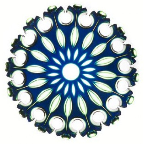 Flamenco kristálytányér, kék színű, átmérője 350 mm