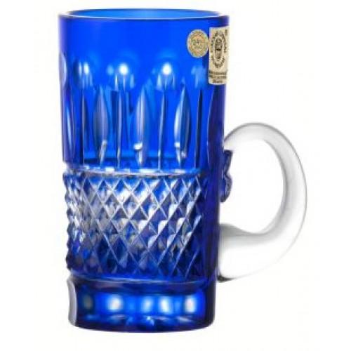 Tomy kristálycsésze, kék színű, űrmértéke 100 ml