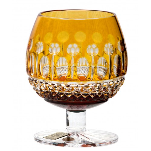 Brandy Tomy kristálypohár, borostyán színű, űrmértéke 230 ml