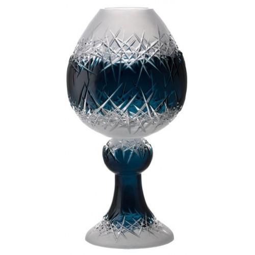 Hoarfrost kristályváza, azúr színű, magassága 560 mm