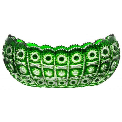 Petra kristálytál, zöld színű, átmérője 305 mm
