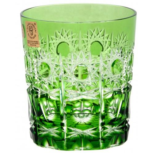 Petra kristálypohár, zöld színű, űrmértéke 290 ml