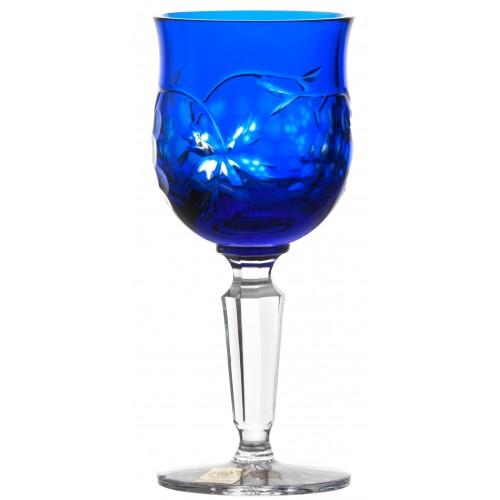 Grapes kristály borospohár, kék színű, űrmértéke 140 ml