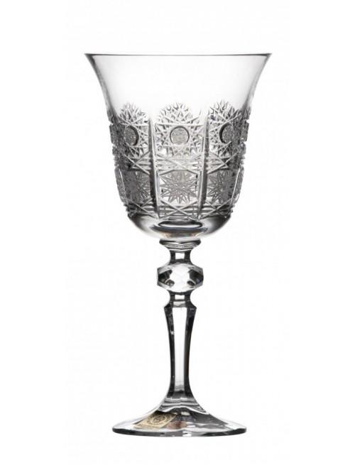 Krištáľový Pohár na víno Laura, áttetsző kristály színű, űrmértéke 220 ml
