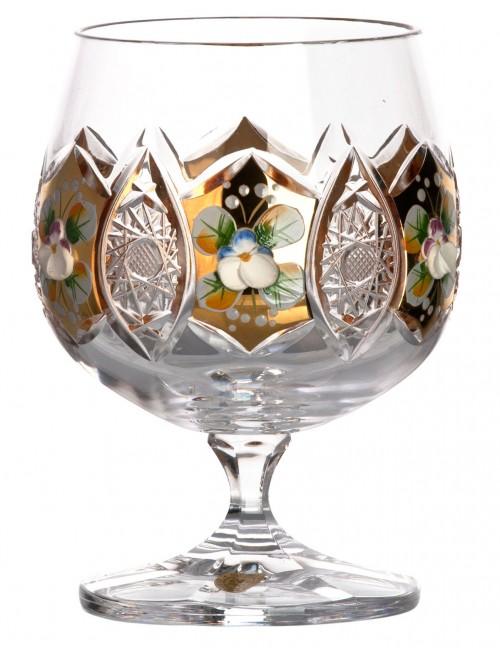 Arany kristály brandyspohár, áttetsző kristály színű, űrmértéke 250 ml