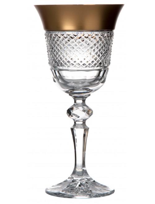 Arany kristály borospohár, áttetsző kristály színű, űrmértéke 170 ml
