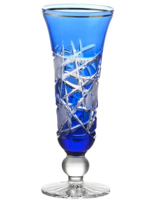 Mars kristály pezsgőspohár, kék színű, űrmértéke 150 ml
