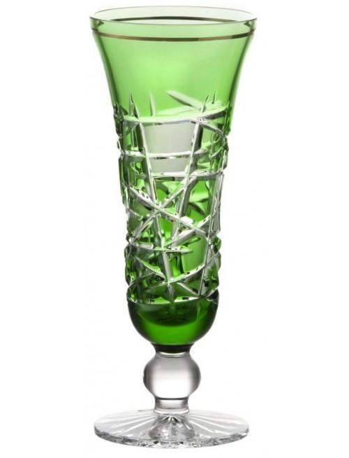 Mars kristály pezsgőspohár, zöld színű, űrmértéke 150 ml
