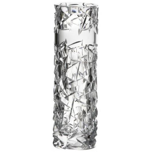 Floe kristályváza, áttetsző kristály színű, magassága 205 mm