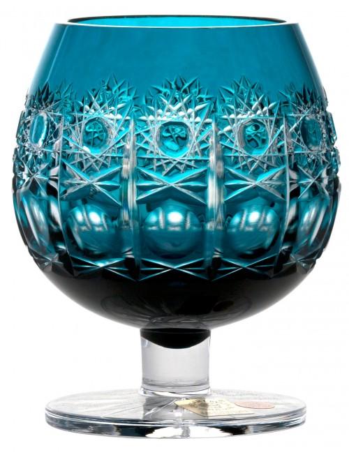 Brandy Petra kristálypohár, azúr színű, űrmértéke 230 ml