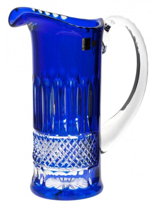 Tomy kristálykancsó, kék színű, űrmértéke 1200 ml