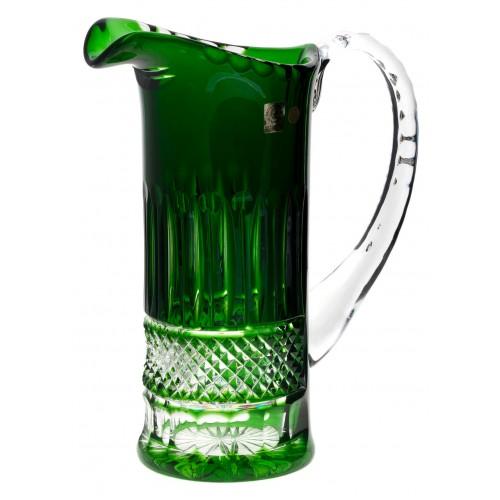 Tomy kristálykancsó, zöld színű, űrmértéke 1200 ml
