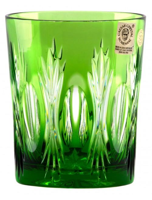 Dandelion kristálypohár, zöld színű, űrmértéke 290 ml