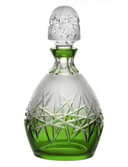 Hoarfrost kristály díszüveg, zöld színű, űrmértéke 700 ml