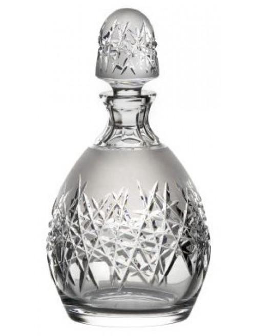 Hoarfrost kristály díszüveg, áttetsző kristály színű, űrmértéke 700 ml