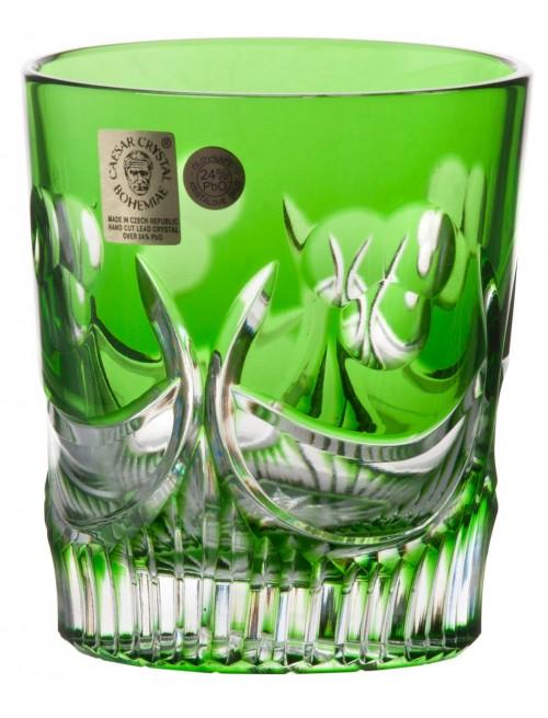 Diadem kristálypohár, zöld színű, űrmértéke 290 ml