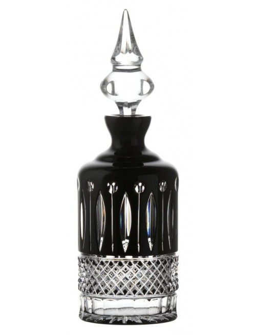 Tomy kristály díszüveg, fekete színű, űrmértéke 700 ml