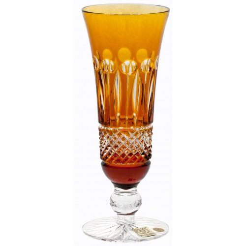 Tomy kristály pezsgőspohár, borostyán színű, űrmértéke 150 ml