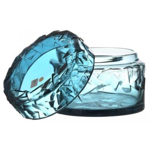 Floe kristályurna, azúr színű, magassága 166 mm