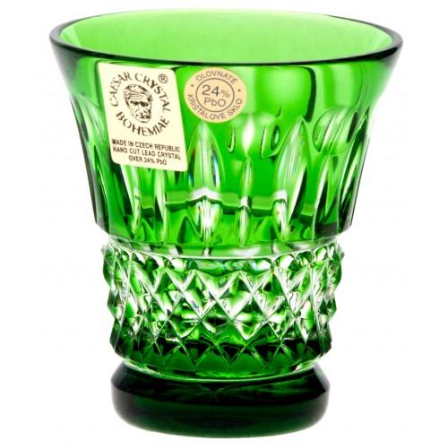 Tomy kristálypohár, zöld színű, űrmértéke 50 ml