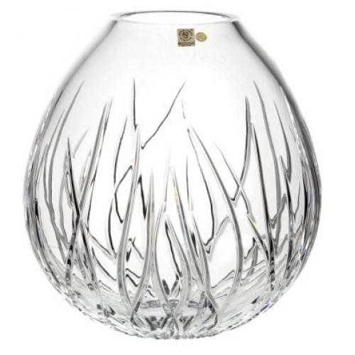 Hínár kristályváza, áttetsző kristály színű, magassága 280 mm
