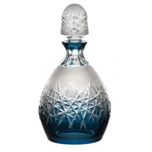 Hoarfrost kristály díszüveg, azúr színű, űrmértéke 700 ml