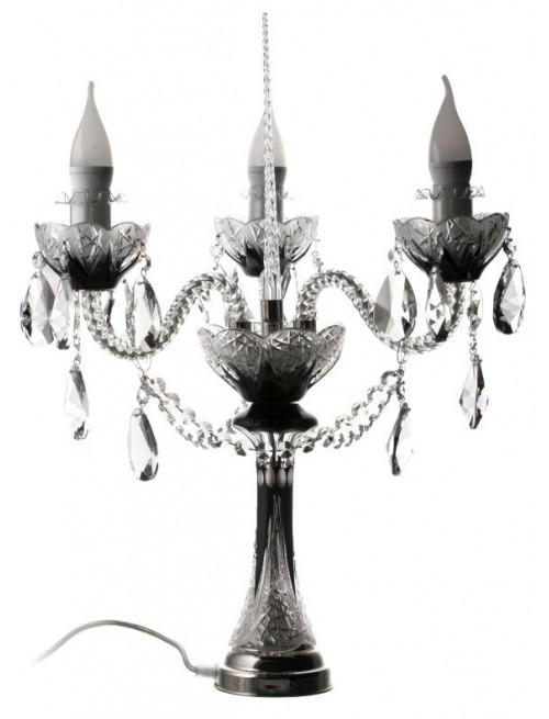 Flowerbud kristály lámpatest, fekete színű