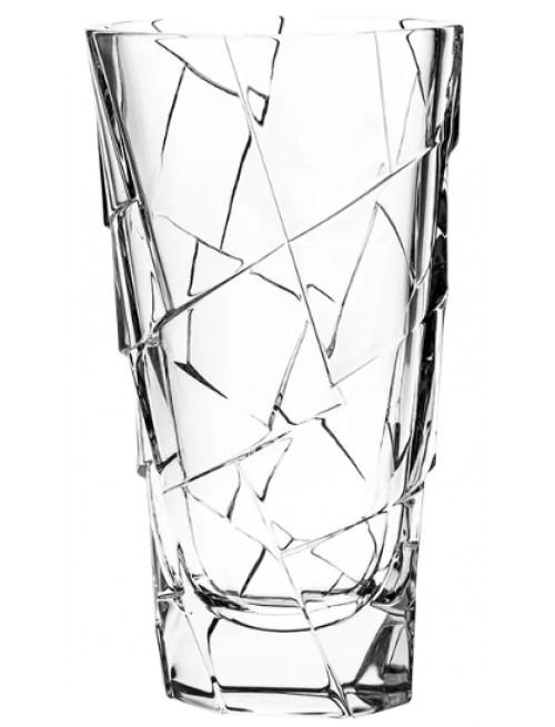Crack kristályváza, áttetsző kristály színű, magassága 305 mm