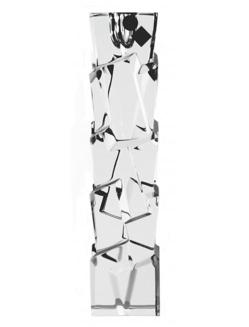Crack kristály gyertyatartó, áttetsző kristály színű, magassága 230 mm