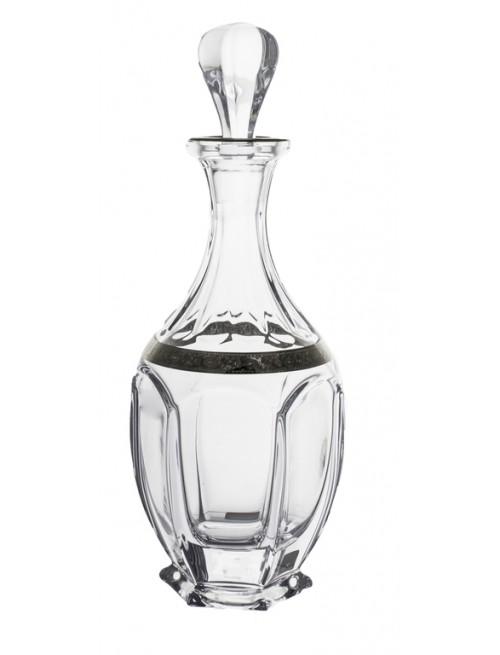 Safari platina díszüveg, ólommentes krisztallit, űrmértéke 800 ml