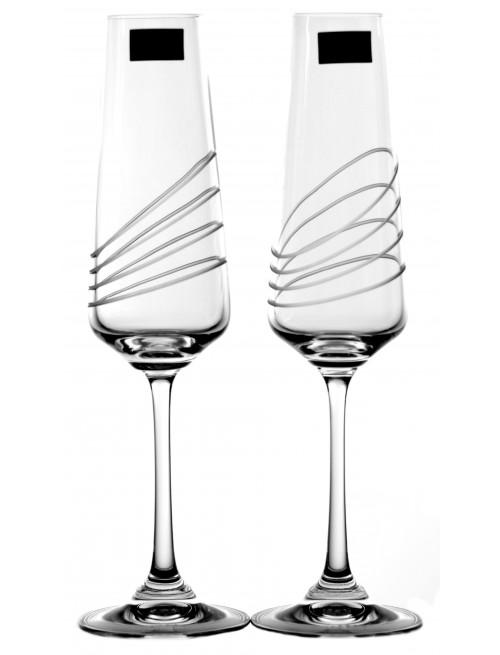 Naomi borospohár készlet 2x, áttetsző üveg - ólommentes, díszített, űrmértéke 160 ml
