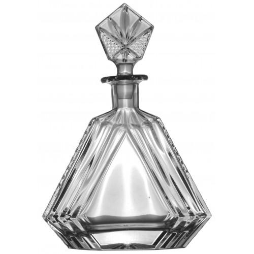 Kristály díszüveg, áttetsző kristály színű, űrmértéke 550 ml