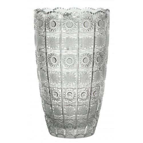 500PK kristályváza, áttetsző kristály színű, magassága 305 mm