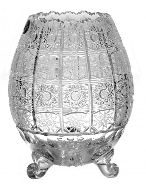 500PK kristályváza III, áttetsző kristály színű, magassága 205 mm