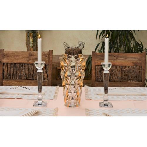 Samba arany váza, ólommentes krisztallit, magassága 305 mm