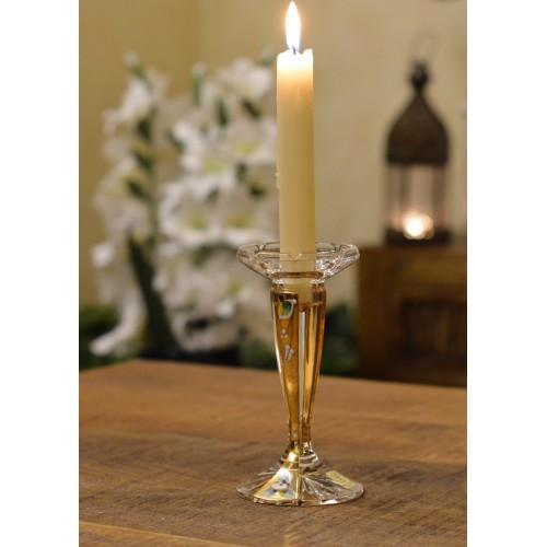 Florance Arany kristály gyertyatartó, áttetsző kristály színű, magassága 160 mm