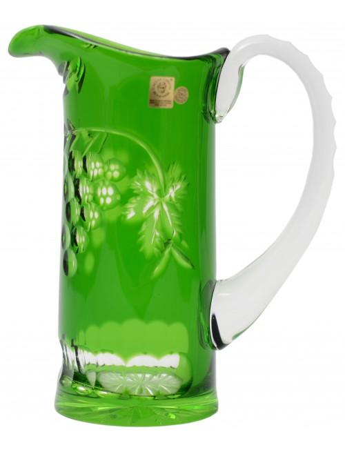Grapes kristálykancsó, zöld színű, űrmértéke 900 ml