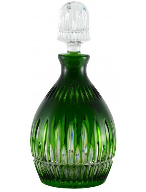 Thorn kristály díszüveg, zöld színű, űrmértéke 700 ml