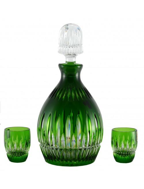 Thorn kristály szett, zöld színű, űrmértéke 700 ml + 2x50 ml